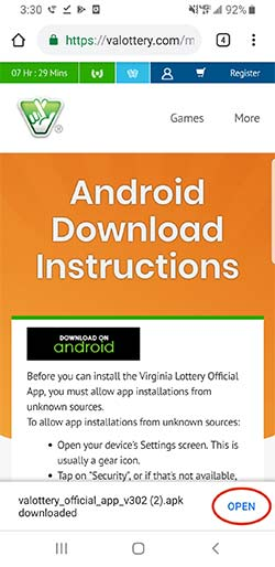 Official Virginia Lottery App for Android