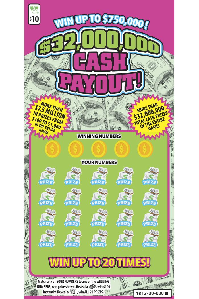 $32,000,000 Cash Payout! Scratcher   Virginia Lottery