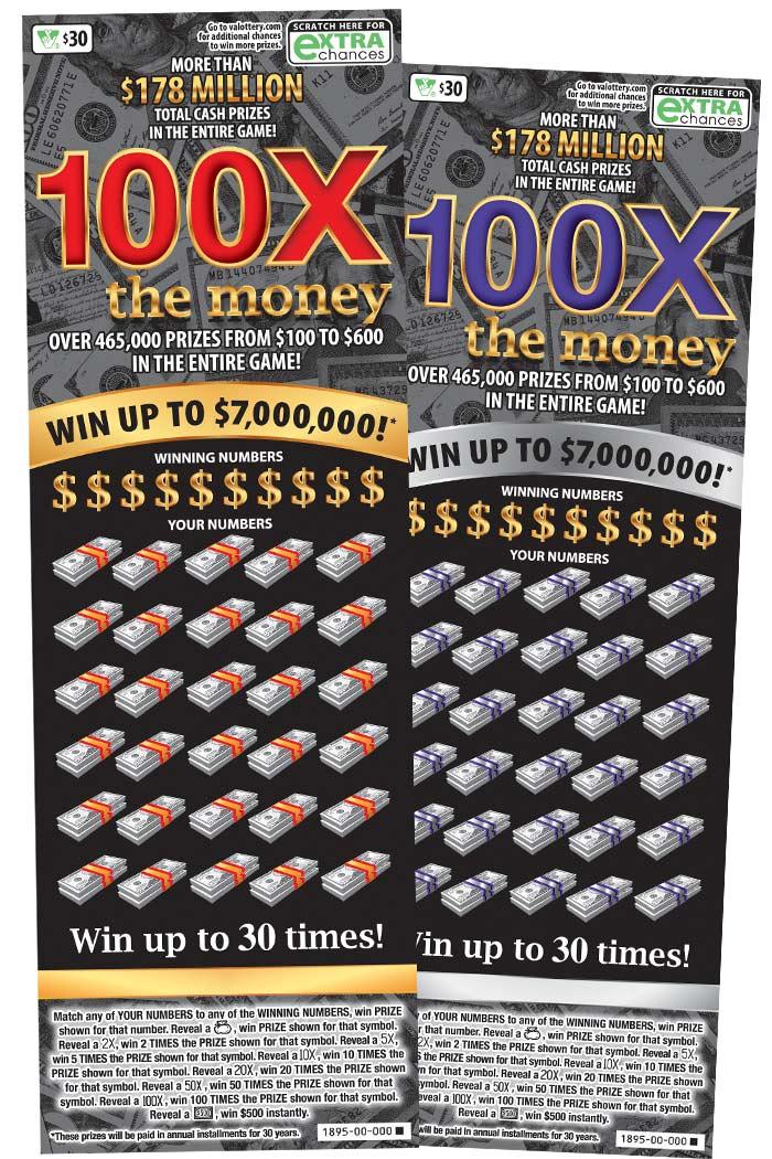 100X The Money Scratcher | Virginia Lottery