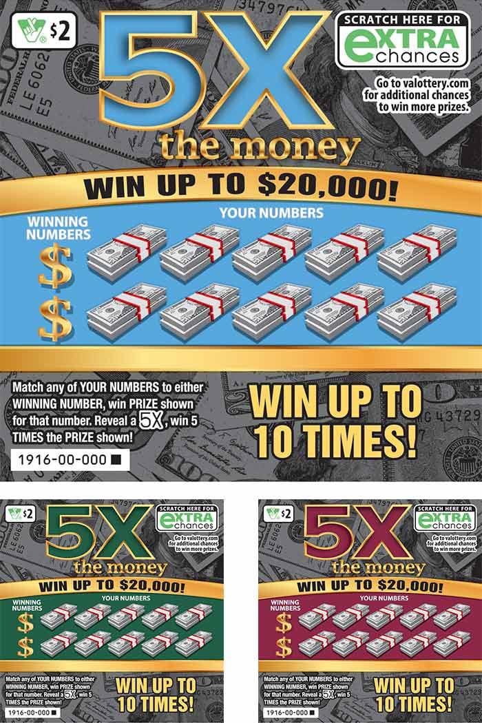 5X The Money Scratcher | Virginia Lottery