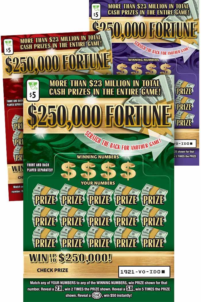 $250,000 Fortune Scratcher | Virginia Lottery