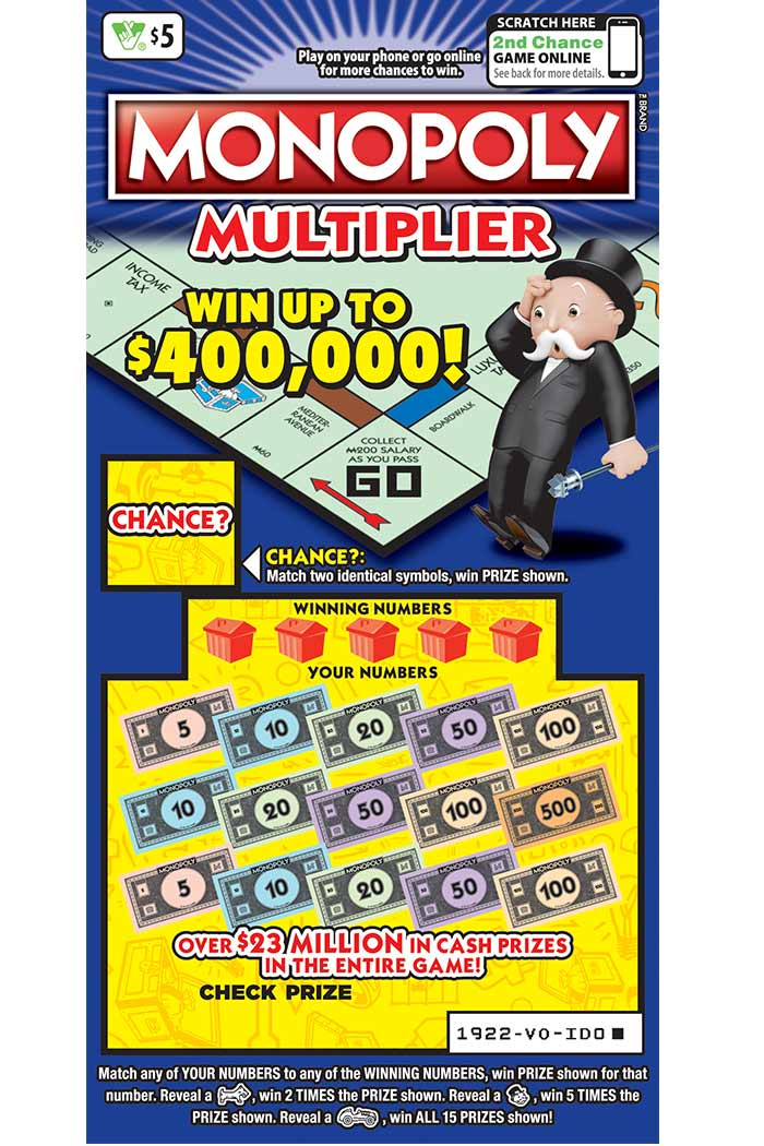 Monopoly Multiplier Scratcher | Virginia Lottery