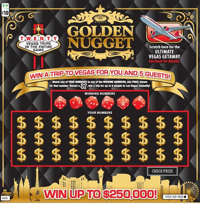 Golden Nugget Scratcher | Virginia Lottery