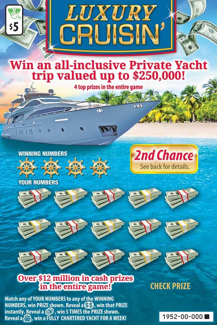 Luxury Cruisin' Scratcher | Virginia Lottery