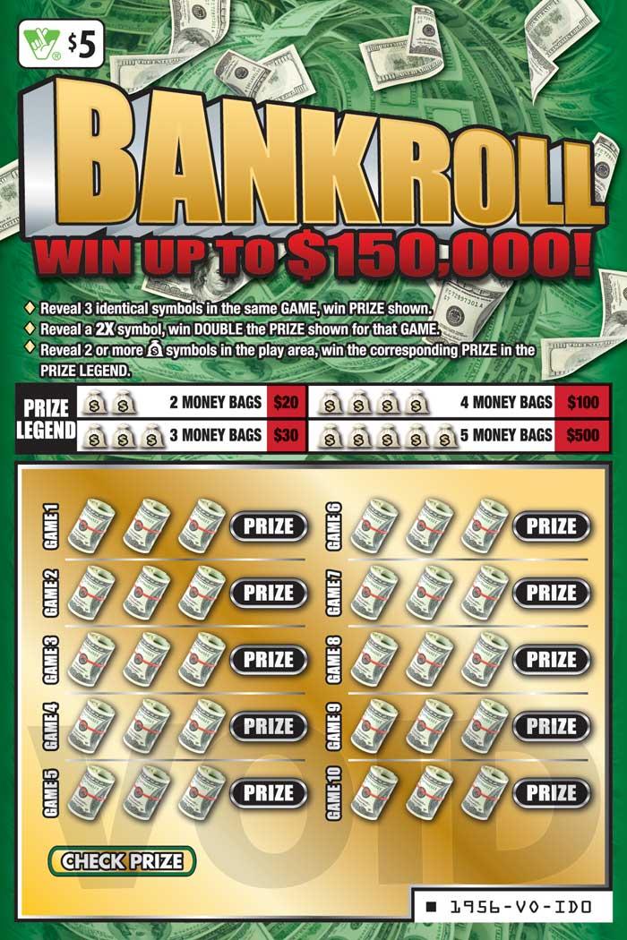 Bankroll Scratcher   Virginia Lottery