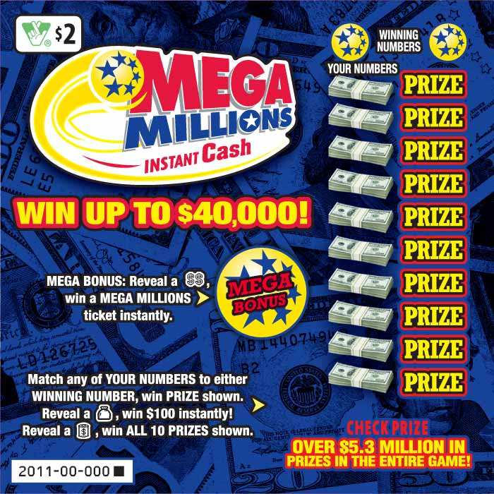 Mega Millions Instant Cash Scratcher 2011 Virginia Lottery