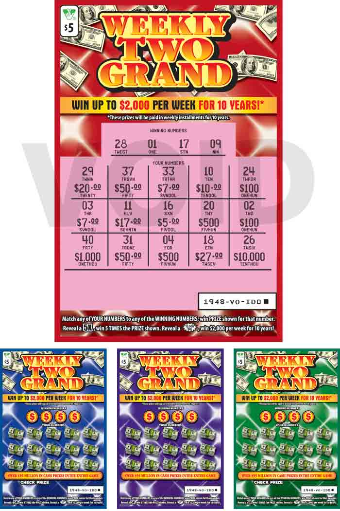 Weekly Two Grand Scratcher | Virginia Lottery