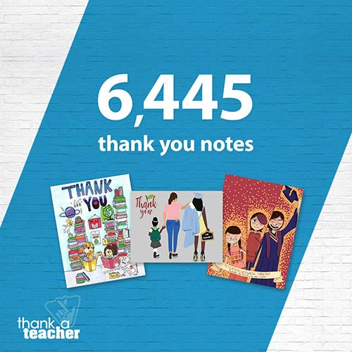 6445 thank you notes