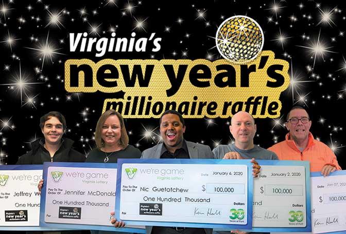 New Year's Raffle Winners | VA Lottery Blog