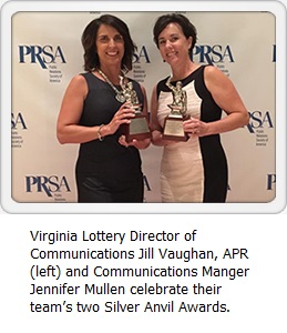 Virginia Lottery wins Silver Anvil Awards